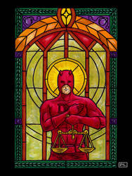 Daredevil Stained Glass by PedroLajud