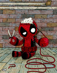 Yarn Deadpool by PedroLajud