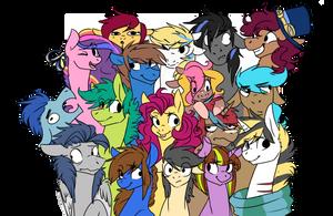 Pastel ponies by Hazelmutt