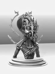 Alien Bust WIP by remcv8