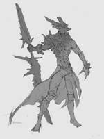 Crystall demon sketch by Artezianin