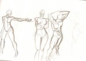 figure sketches by NavyBlueManga