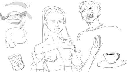 doodles by NavyBlueManga