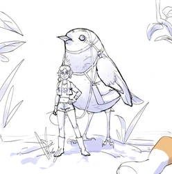 Birds of a Feather Wip by NavyBlueManga