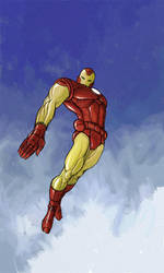 retro iron man by francis001