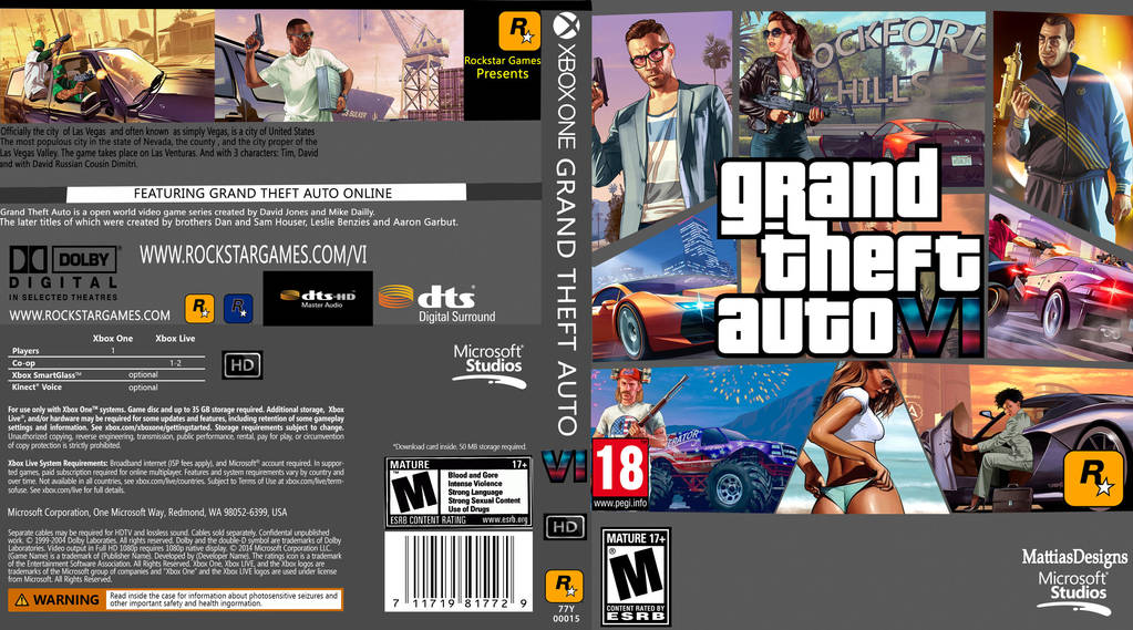 Gta 6 Cover: Xbox One Cover Template By Etschannel-d7tadxr-(2) By