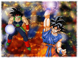 Goku and Bardock wallpaper by MissCath