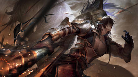 Dynasty Warrior 9 Wen Yang Fan Art by VictorBang