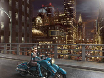 City at Night by drisco