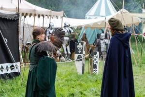 Medieval Falconer Huntress Noblewoman by LuDa-Stock