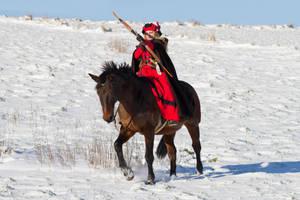 Horseback Archery like Legolas Stock by LuDa-Stock