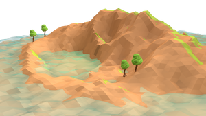Lost Island (Low Poly) 3 by error-23