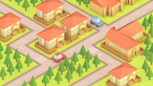 Neighborhood (Isometric) by error-23