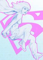 Supergirl Halftone by AviKishundat