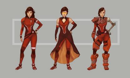 Sci-Fi Female Character Design by AviKishundat