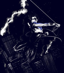 Nightwing | Midnight Stroll by AviKishundat