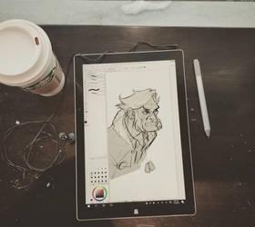 Old Man Logan Doodle by AviKishundat