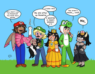 the mario gang by Sinklair8