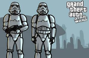 GTA: Star Wars - Stormtroopers by SmacksArt