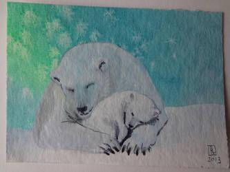 mother and cub by Merlyn-Gabriel