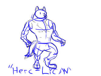 Herc-Lycan sketch by universaldemos0