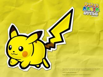 Paper Mario Style: Pikachu by hextupleyoodot