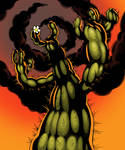 Angry Cactus by hextupleyoodot