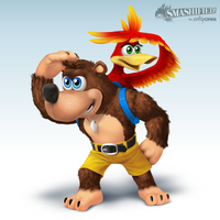 Banjo and Kazooie Smashified by hextupleyoodot