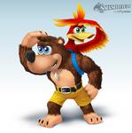 Banjo and Kazooie Smashified by hextupleyoodot