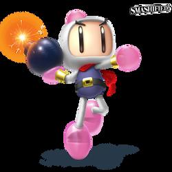Bomberman Smashified Transparent by hextupleyoodot