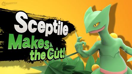 Sceptile Makes the Cut! by hextupleyoodot