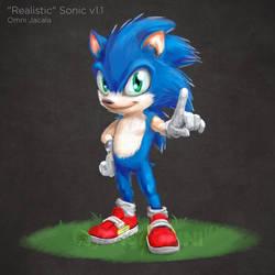 'Realistic' Sonic the Hedgehog (v1.1) by hextupleyoodot