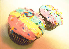 Rainbow Cupcakes by Ellidegg