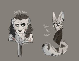 Jeff and Jane: Zootopia version XD by Lynnarty