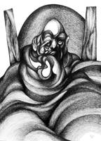 A Witch under the blanket by RedTweny