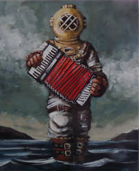 Deep Sea Diver with Accordion by ShayHahn