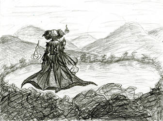 Atmospheric Perspective sketch by TheLadyOfBlack