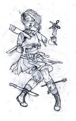 Aichmophobia -base sketch- by TheLadyOfBlack