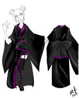 Kimono girl by Killian-Hollow