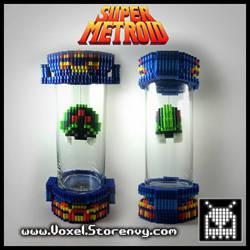 Super Metroid Capsule by VoxelPerlers