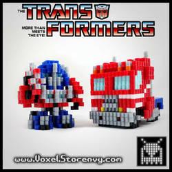 Optimus Prime Transform by VoxelPerlers