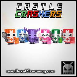 Set Castle crasher knights by VoxelPerlers