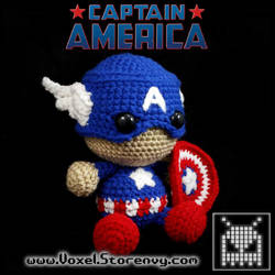Captain America Plush by VoxelPerlers