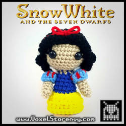 Snow White (Handmade plush) by VoxelPerlers