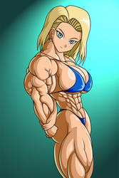 Android 18 Colored by Fersax
