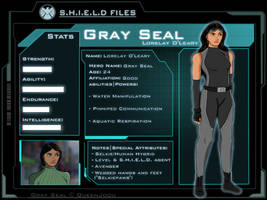 Marvel OC: Gray Seal S.H.I.E.L.D. File by QueenJoou