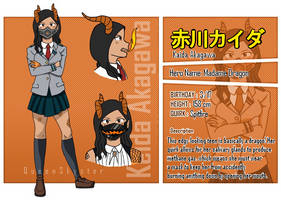 BNHA OC: Kaida Akagawa Reference by QueenJoou