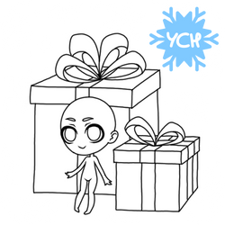 YCH winter holiday Chibi - presents #2 by anineko