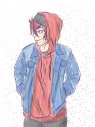 Jens - Jeans n Hood sketch by anineko