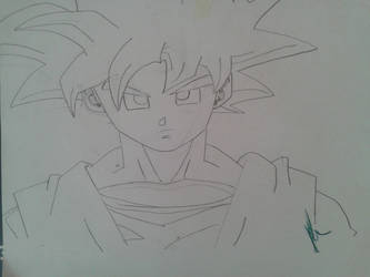 Goku old Drawing by Spiderpenguin98